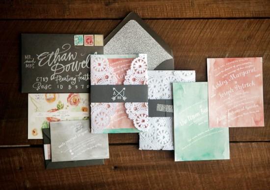 Glitter-Watercolor-Lace-Wedding-Invitations-Crissie-McDowell-550x387