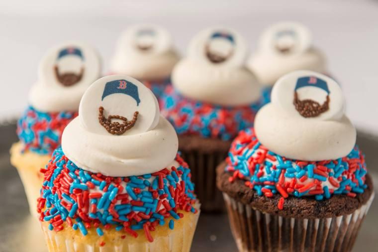 red sox cupcake